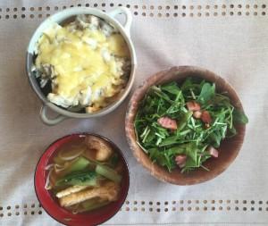 ほっこり優しい卵とほうれん草のグラタン〜おうちカフェ〜