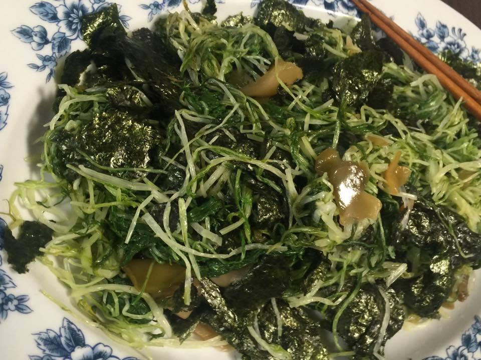 シャキシャキ水菜とザーサイの組み合わせが美味しい!〜おうちカフェ〜