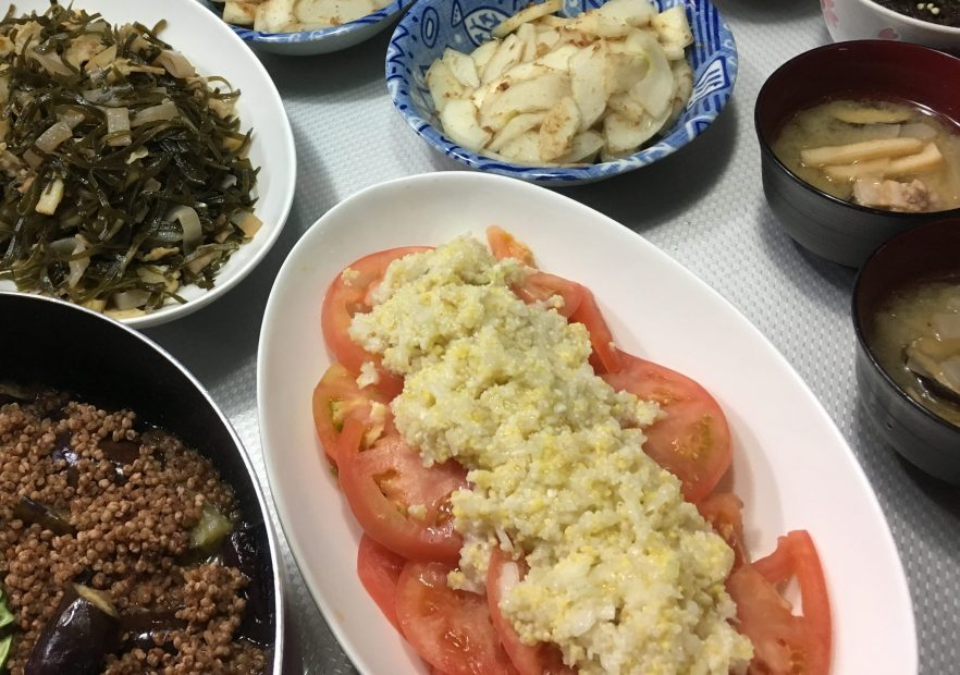 豚ミンチよりも優しい味・たかきび麻婆茄子〜おうちカフェ