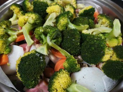 フライパンを使った野菜とお肉の蒸し焼き!〜おうちカフェ〜